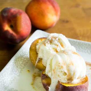 Baked Peaches with Brown Sugar and Cinnamon