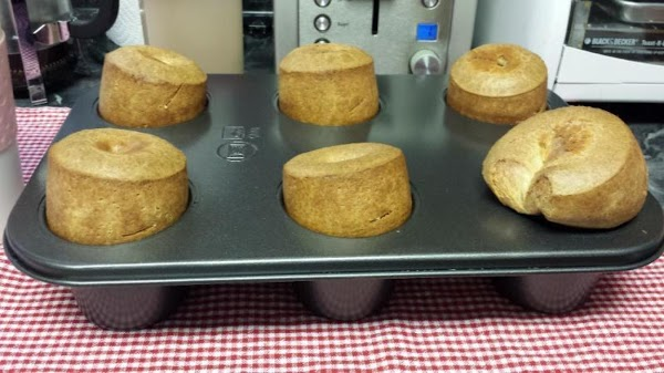 Lift the popovers from the pan immediately after removing the pan from the oven...