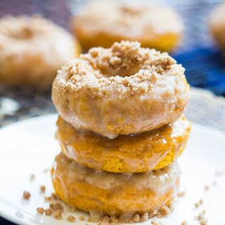 Pumpkin Crumb Doughnuts.