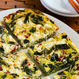 Slow Cooker Frittata with Kale, Roasted Red Pepper, and Feta