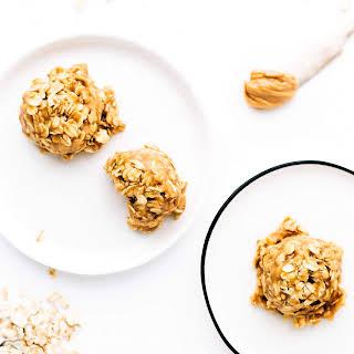 No-Bake Chewy Peanut Butter Oat Cookies   Vegan, Gluten-Free.