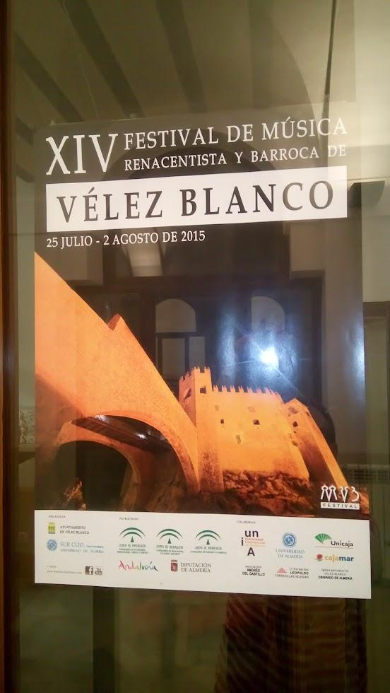 cartel semana renacentista y barroca vélez blanco