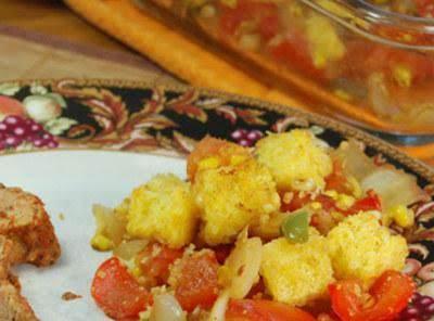 Cornbread Bell Pepper Bake Recipe