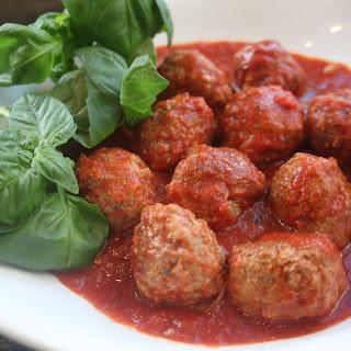Meatball Parmigiana Casserole.
