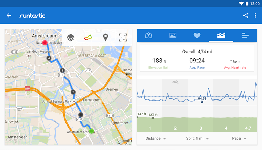 Runtastic PRO Running, Fitness app for Android screenshot