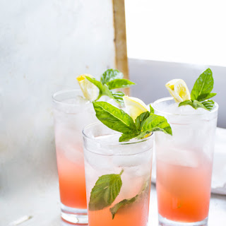 Grapefruit Soda with Honey, Basil & Fresh Lemon