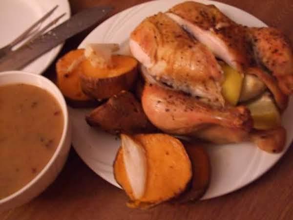 Roast Chicken With Yam Stuffing