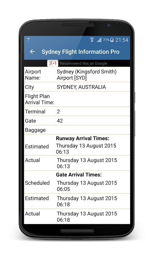 Stansted Airport FlightPal- screenshot
