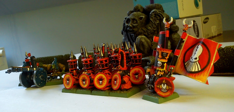 Photo: Side view of my chaos dwarf army