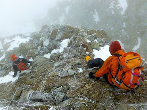 Photo: The bad of nailing the ridge at the low point: having to descend one gully over to avoid the gigantic notch in the ridge en route to Ellingwood