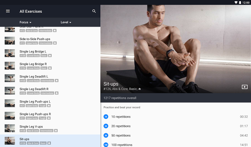 Runtastic Results Home Workouts & Personal Trainer Screenshot 8