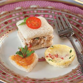 Italian Chicken Salad Tea Sandwiches.