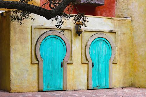 by Asya Atanasova - City,  Street & Park  Street Scenes ( home, blue, street, door, house )