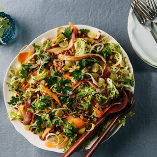 Frisée and Carrot Ribbon Salad with Za'atar-Lemon Vinaigrette