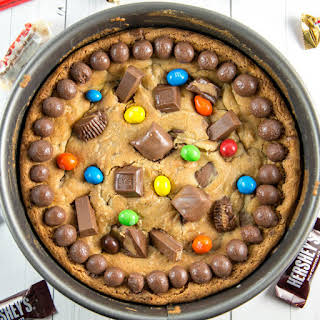 Leftover Candy Cookie Cake.