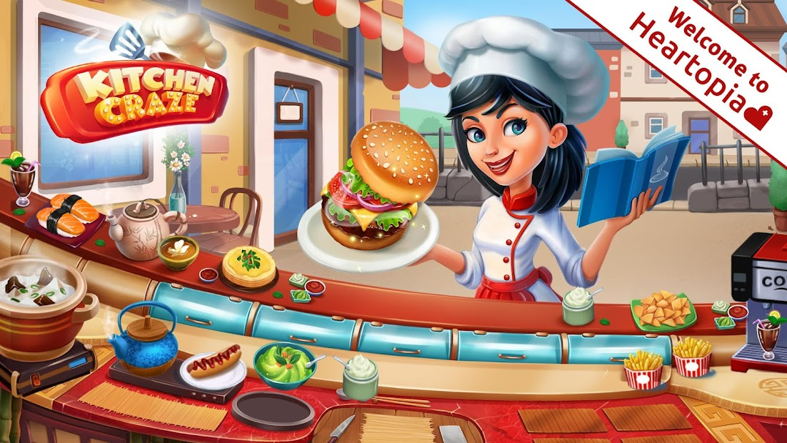 Kitchen Craze: Cooking Games for Free & Food Games Android App Screenshot