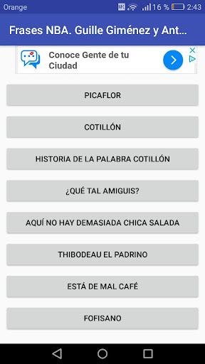 Frases NBA. Guille Giménez y Antoni Daimiel 1.01 screenshots 2
