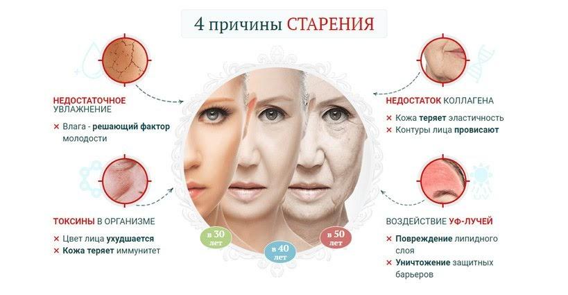 Морщины у женщин инфографика