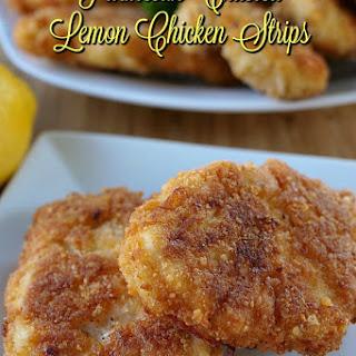 Parmesan Crusted Lemon Chicken Strips Recipe