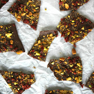 Salted Cranberry and Pistachio Bark.