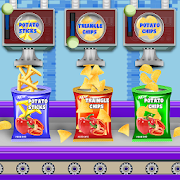 Crispy Potato Chips Factory: Snacks Maker Games