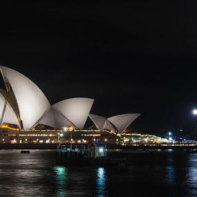 Sydney Opera House by Daniel Wheeler - Buildings & Architecture Public & Historical ( water, australia, long exposure, opera house, sydney )