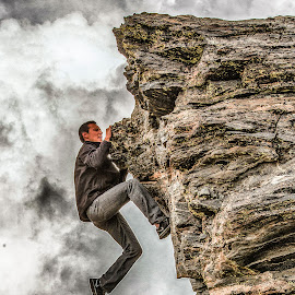 Just a Little More by Richard Michael Lingo - Sports & Fitness Other Sports ( sports, fitness, rock climbing, man, summit )