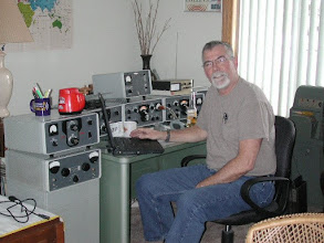 Photo: Guest Operator WO7P Idaho QSO Party, 1476 contacts second station , a classic Collins -- we made 570 contacts on this radio - and a TH7DXX, and the Vertical --