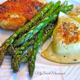 Oven-Roasted Asparagus with Parmesan.
