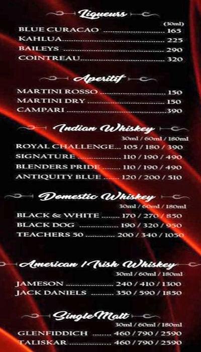 Royale MasterChef Lounge menu 4