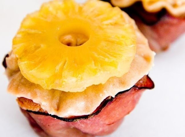 Honey Baked Ham Cupcakes & Candied Pineapple Tops Recipe