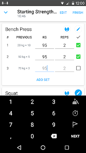 Strong: Exercise Gym Log
