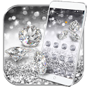 Silver Diamond glitter Theme Wallpaper icon