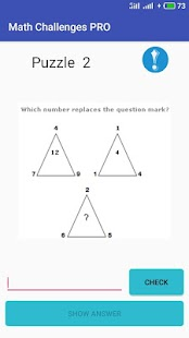 Math Challenges PRO 2018 - Puzzles for Geniuses Screenshot