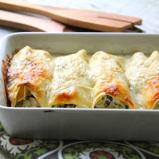 Chicken, Spinach and Artichoke Cannelloni Recipe