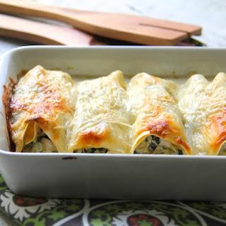 Chicken, Spinach and Artichoke Cannelloni.