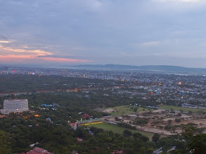 Photo: This is the view from Mandalay hill when you miss the sunset.