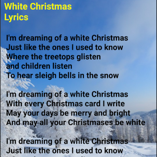 White Christmas Lyrics.App Insights White Christmas Lyrics Apptopia