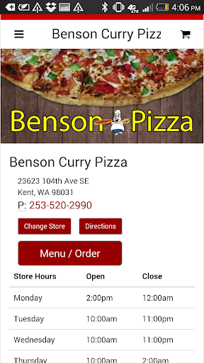 Benson Curry Pizza