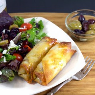Greek Style Olive and Avocado Egg Rolls
