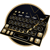 Golden Black Business Keyboard Theme icon