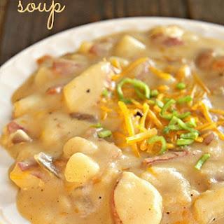 Cheesy Potato Bacon Leek Soup