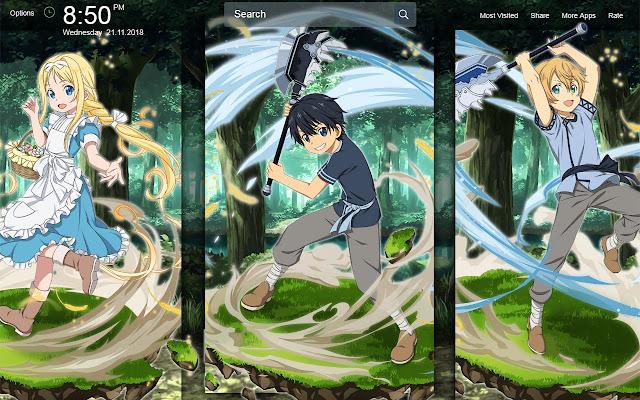 Sword Art Online Alicization Wallpapers Theme