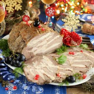 Pork Roast Stuffed with Chicken and Herbs (Russian Buzhenina).