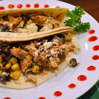 Slow Cooker Cilantro Lime Chicken Soft Tacos.