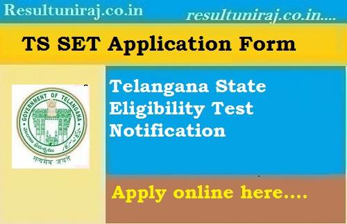 TS SET 2019 Application Form