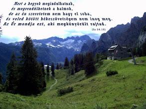 """Photo: """"Az én szeretetem nem hagy el soha."""" Biblia, SZIT 1996"""
