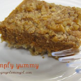 Pecan Pumpkin Pie Bars (Gluten Free)
