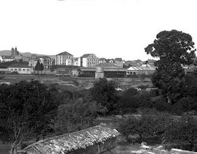 Photo: Estación do tren en Campolongo, vista dende o Paxo de Paco Leis.
