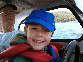 Photo: Clark Drives Grandpa's Boat